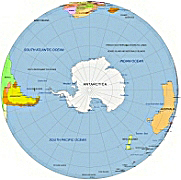 North and South Pole map